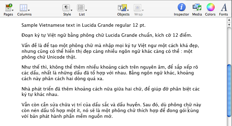 Comparing Unicode fonts for Vietnamese